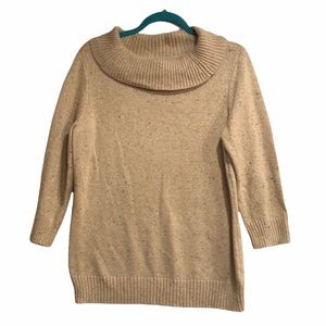 Charter Club Cowl Neck Sweater Gold large/Petite